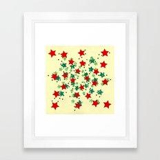 5 Colors Composition (#2) Framed Art Print