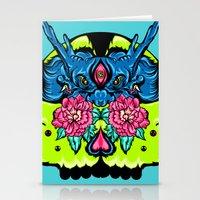 Dragon Skull Stationery Cards