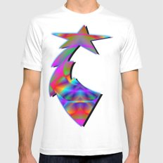 CAPSTONE RAINBOW White Mens Fitted Tee SMALL