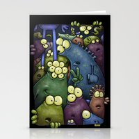 Crowded Aliens Stationery Cards