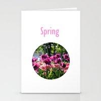 Purplicious Spring Stationery Cards