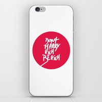 Don't Marry Rich Be Rich iPhone & iPod Skin