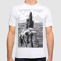 Black Lagoon (B&W)... Mens Fitted Tee Ash Grey SMALL