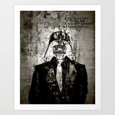 Unreal Party Darth Vader Art Print