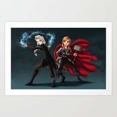 Thunder and Frost Art Print