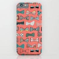 iPhone & iPod Case featuring Bow tie geek in pink by Akwaflorell