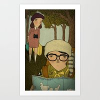 moonrise kingdom Art Prints featuring Moonrise Kingdom by Mai Ly Degnan