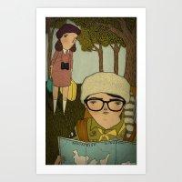 moonrise kingdom Art Prints featuring Moonrise Kingdom by Mai Ly Degnan