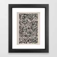 - newspaper - Framed Art Print