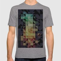 :: Geometric Maze IV :: Mens Fitted Tee Athletic Grey SMALL