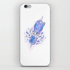 Bear meets whale iPhone & iPod Skin