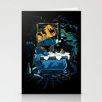 Stationery Card featuring Midnight Crisis by Don Lim