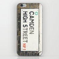 Camden High Street Sign - London Photography iPhone & iPod Skin