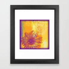 Sunflower Pop Art - Digital Painting Framed Art Print