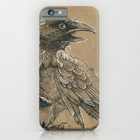 iPhone & iPod Case featuring Raven / Crow by pakowacz