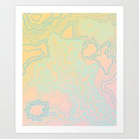 TOPOGRAPHIC MAP Art Print