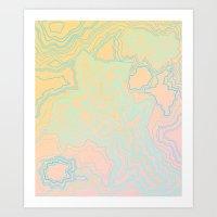 TOPOGRAPHIC MAP Art Print