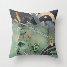 The traveler dreams Throw Pillow