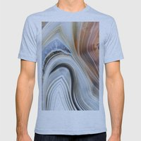 Marble Lined Mens Fitted Tee Athletic Blue SMALL
