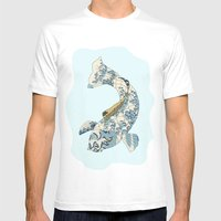 Koi Japanese Fish Number… Mens Fitted Tee White SMALL