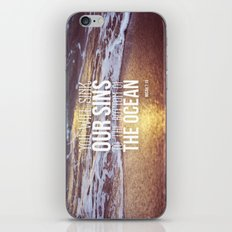 Micah 7:19 iPhone & iPod Skin