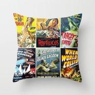 Vintage Sci-Fi Movie Pos… Throw Pillow