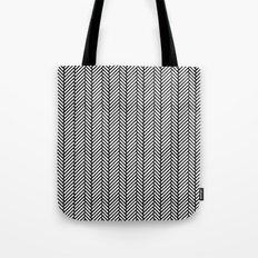 Herringbone Black Tote Bag