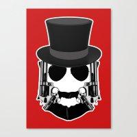 Gun Face Canvas Print