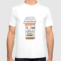Movies Are My Drug Mens Fitted Tee White SMALL