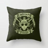 Greedo's Shooting Academy - Star Wars Throw Pillow