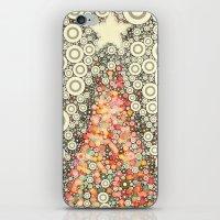 Christmas Joy -- Abstract Christmas Tree Greeting iPhone & iPod Skin
