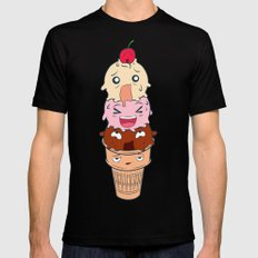 Screaming Ice Cream  Mens Fitted Tee Black SMALL