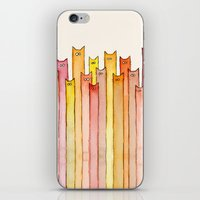 Cats Autumn Colors Patte… iPhone & iPod Skin