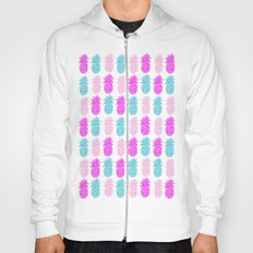 Pineapple bright pink and turquoise Hoody