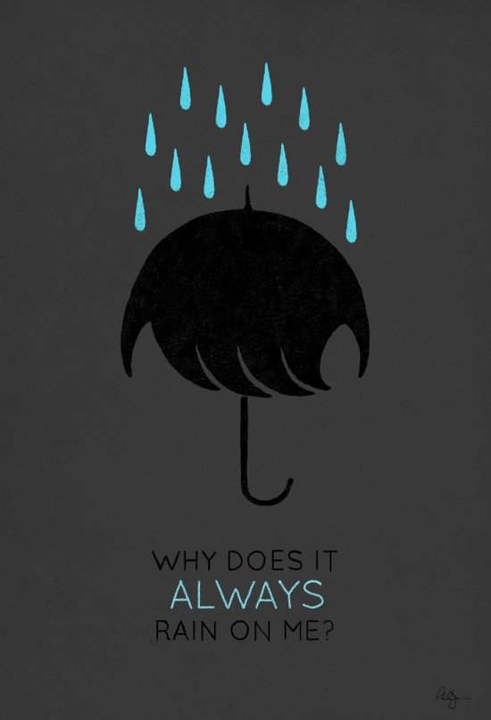 Umbrellas are Emo Canvas Print