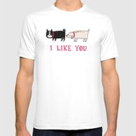 T-shirt featuring I Like You. by Gemma Correll