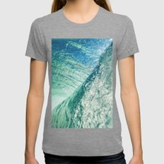 The Blue Boundary #socie… Womens Fitted Tee Tri-Grey SMALL