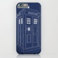 iPhone & iPod Case featuring Doctor Who Tardis by Martin Lucas