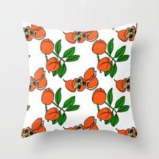 Jamaican Botanicals - Ackee (neon) Throw Pillow