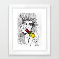 ICE LOLLY GIRL Framed Art Print