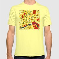 BOOGIE WOOGIE MELBOURNE Mens Fitted Tee Lemon SMALL