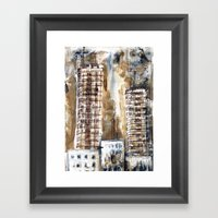 Construction City #1 Framed Art Print