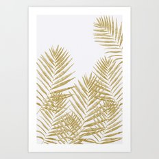 Fern Golden Art Print