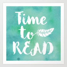 Time to Read - Green Art Print