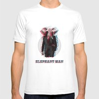 Elephant Man Mens Fitted Tee White SMALL