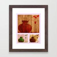 Vase Collage (warm, aged look) Framed Art Print