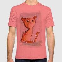 Orange Zombie Kitty Mens Fitted Tee Pomegranate SMALL