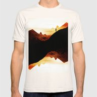 Red Wasteland  Mens Fitted Tee Natural SMALL