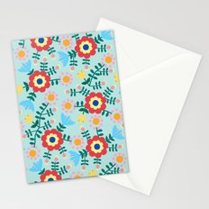 Folk Floral (blue) Stationery Cards