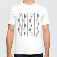 Hills and Valleys Mens Fitted Tee White SMALL